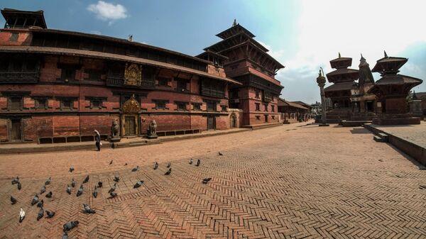 Площадь Дурбар в Лалитпуре неподалеку от Катманду