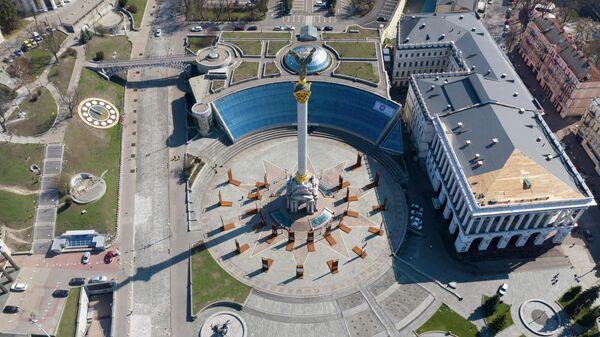Вид на Площадь Независимости в Киеве, Украина