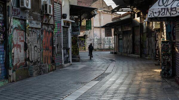 Закрытые магазины в Афинах