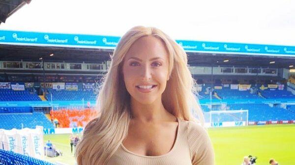 Ведущая клубного телеканала Лидс Юнайтед Эмма Джонс