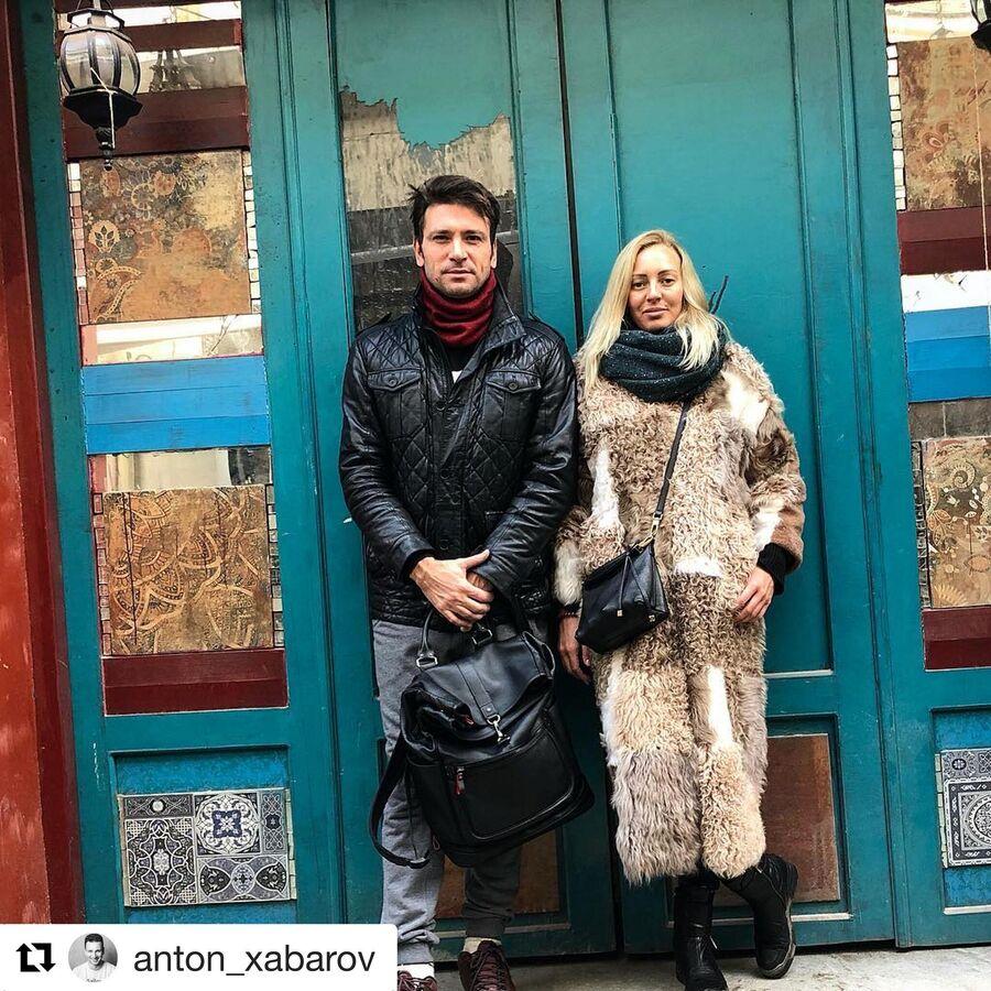 Антон Хабаров с женой Еленой в Тбилиси