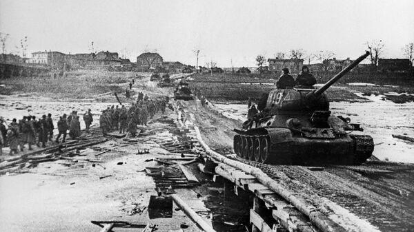 Берлинская наступательная операция. Советские войска на пути к Берлину