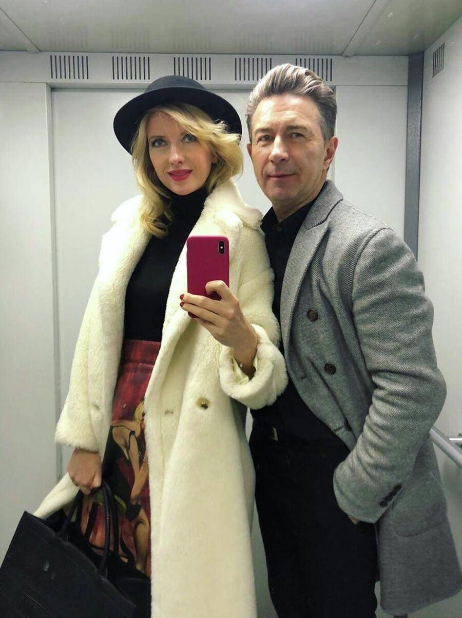 С женой Виолой