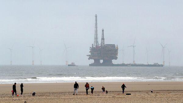 Добыча нефти марки Brent в Северном море