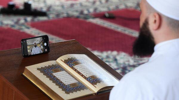 Муфтий Татарстана Камиль хазрат Самигуллин во время онлайн хатма