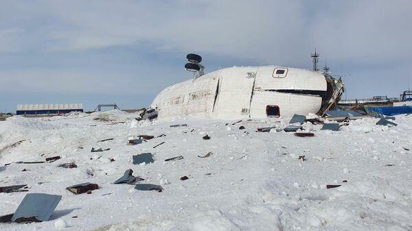 На месте жесткой посадки вертолета Ми-26 в ЯНАО