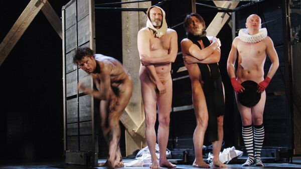 Сцена из спектакля Король Лир Малого драматического театра - Театра Европы в постановке Льва Додина.