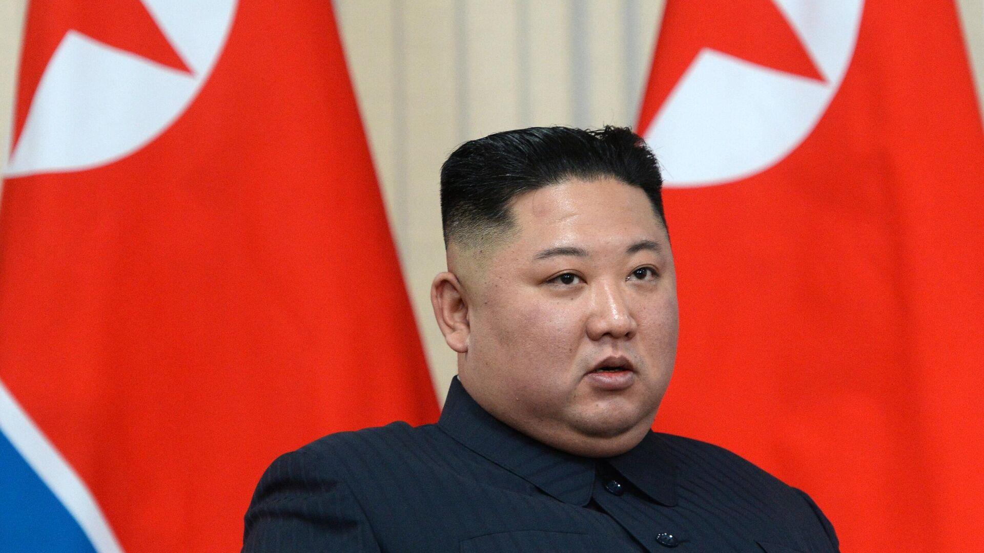 Председатель Госсовета Корейской Народно-Демократической Республики Ким Чен Ын - РИА Новости, 1920, 08.01.2021