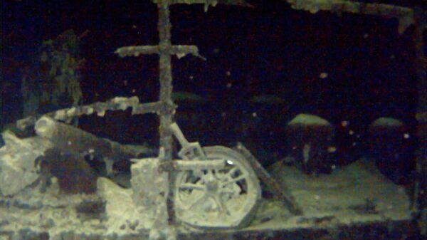 Потопленный немцами в годы Великой Отечественной войны советский теплоход Армения