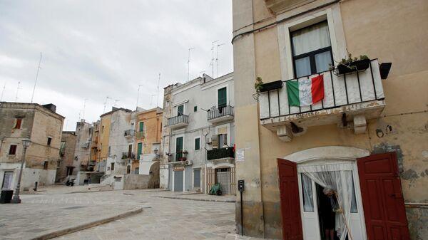 Город Бари на юге Италии во время самоизоляции жителей