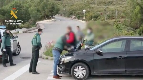Стоп-кадр видео задержания бывшего депутата Госдумы России, который находился в международном розыске