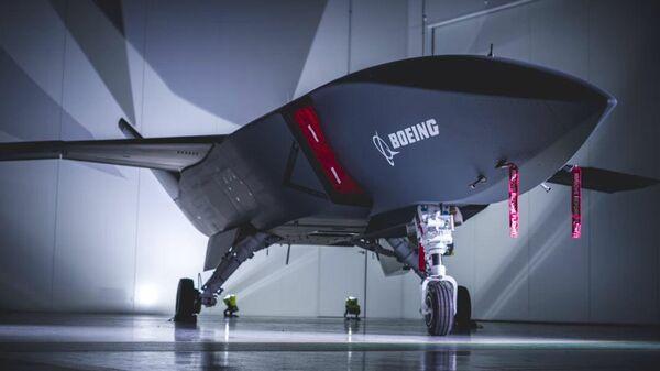 Стоп-кадр презентации беспилотного летательного аппарата Loyal Wingman для Королевских ВВС Австралии