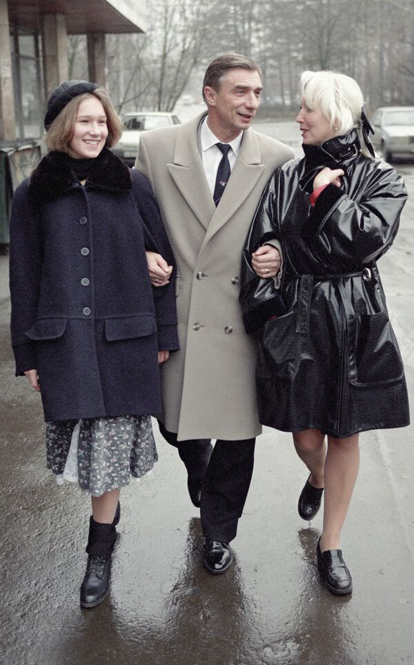 Георгий Ярцев с семьей
