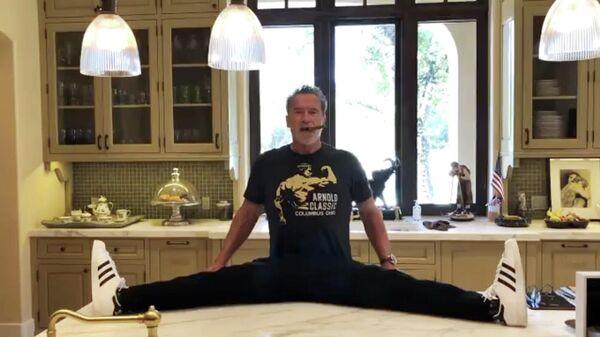 Кадр из видео Арнольда Шварценеггера, опубликованного в Instagram