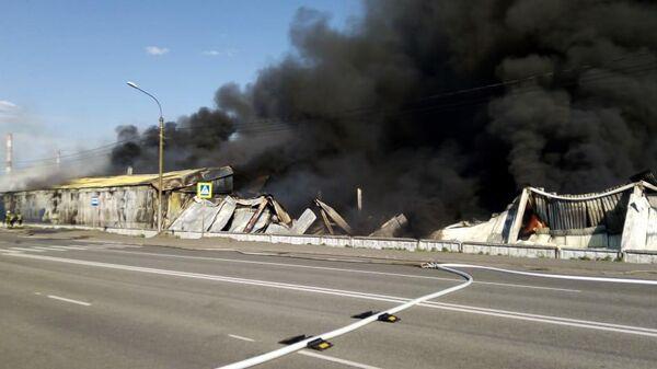 Последствия пожара в Красноярске