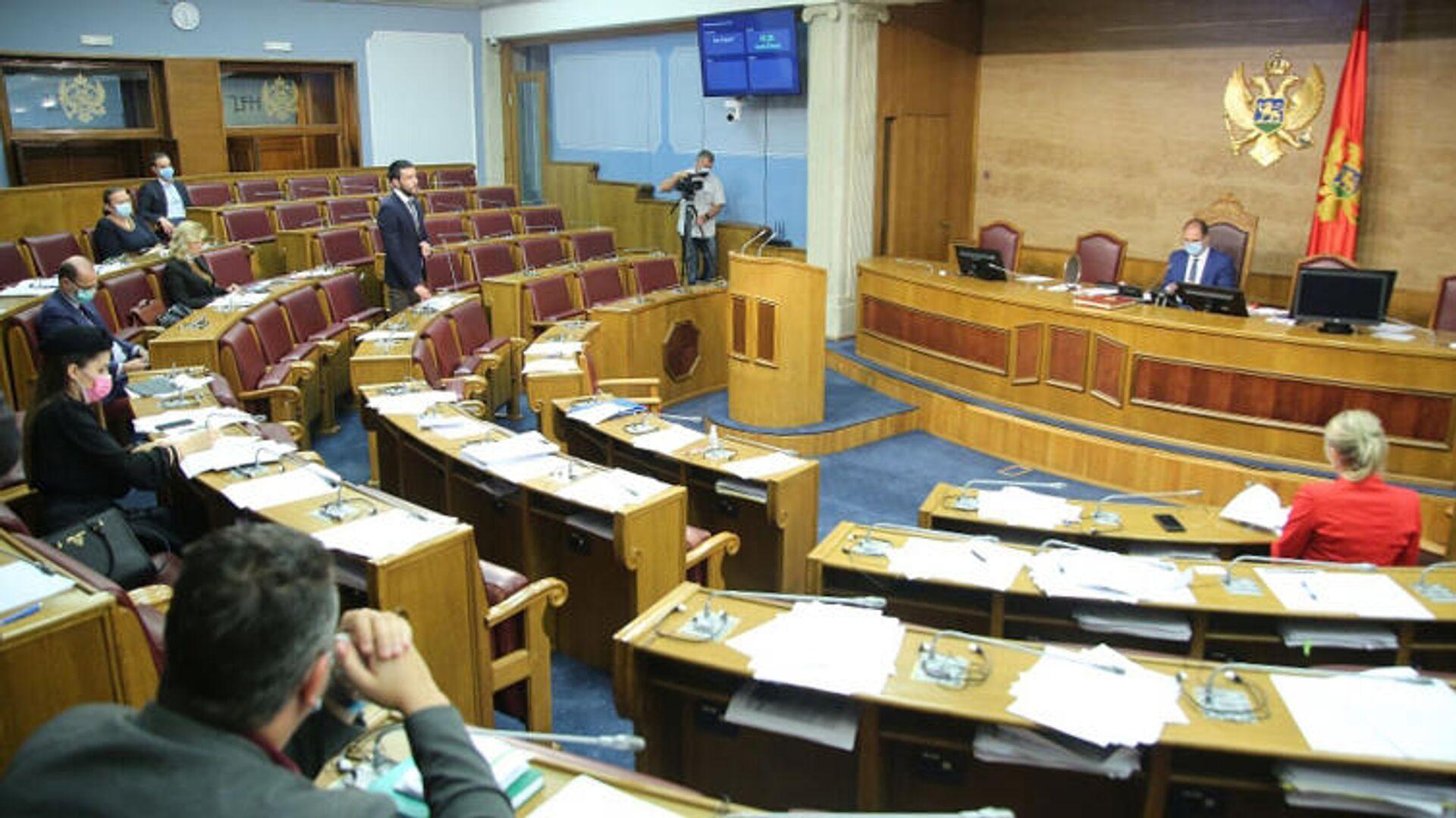 Весенняя сессия заседания Парламента Черногории - РИА Новости, 1920, 04.12.2020