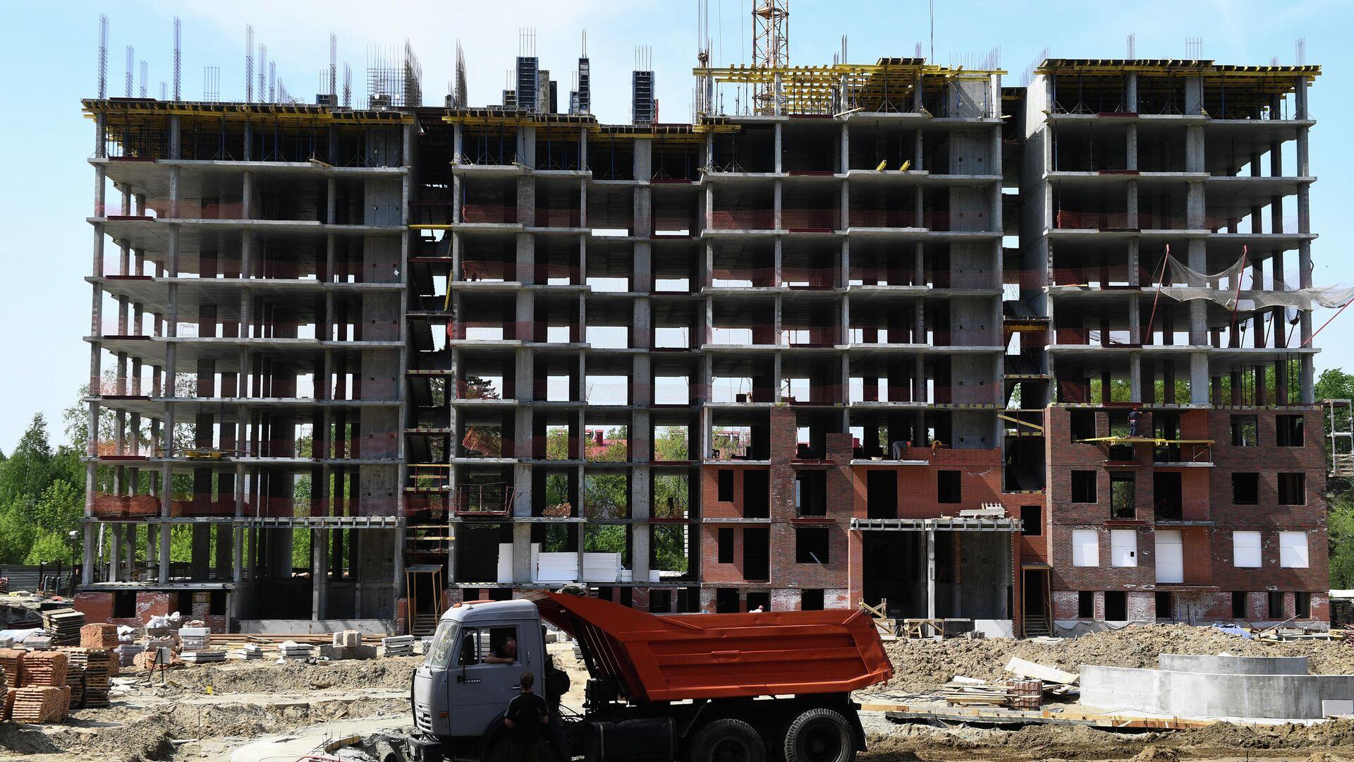 Строительство жилого комплекса - РИА Новости, 1920, 13.07.2020