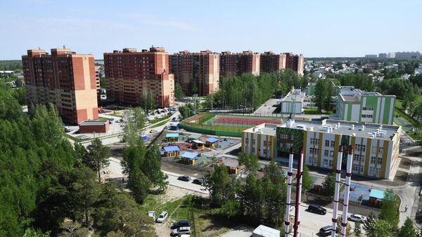 Вид на новые дома жилого комплекса в Новосибирске