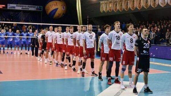 Волейболисты Белогорья перед матчем с Зенитом