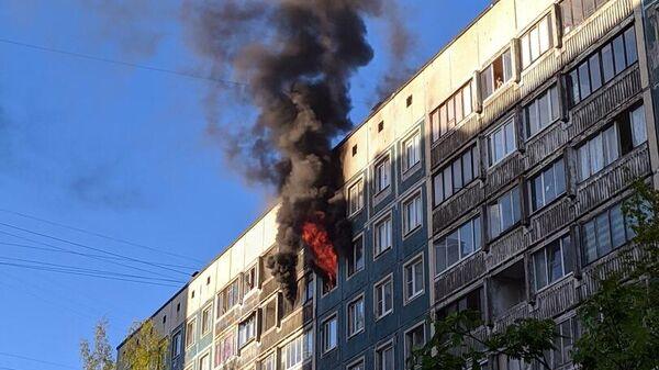 Пожар на Северном проспекте в Санкт-Петербурге