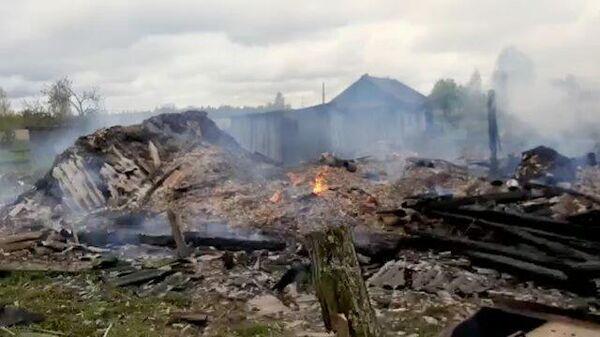 Пожар в частном доме в Ярославской области