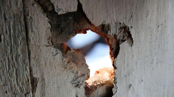 Повреждения жилого дома в ДНР