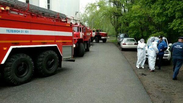 Кадры ликвидации пожара в больнице Приморского края