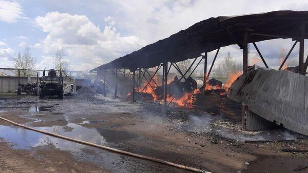 Пожар в городе Пикалево Бокситогорского района Ленинградской области