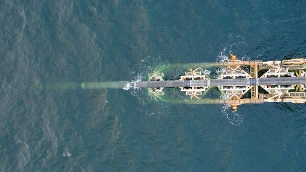 Строительство газопровода в территориальных водах Германии