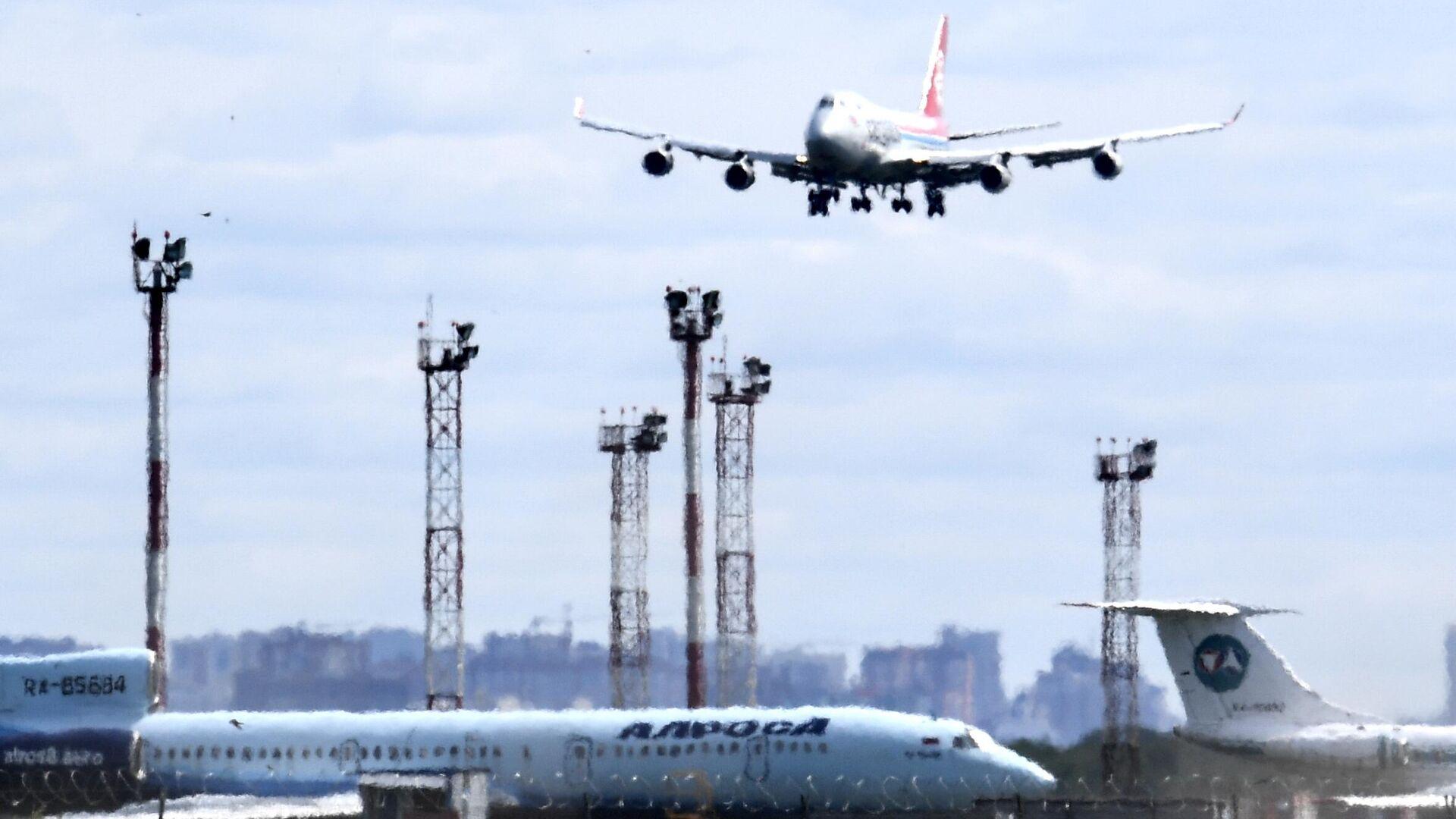 Боинг-737 авиакомпании Cargolux во время посадки в аэропорту Толмачево в Новосибирске - РИА Новости, 1920, 11.08.2020