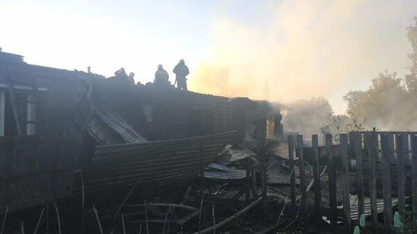 Пожар в жилом доме в Омске. 30 мая 2020