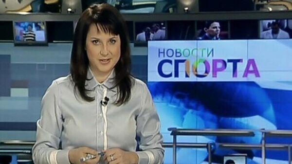 Ирина Слуцкая во время первого репортажа на телевидении