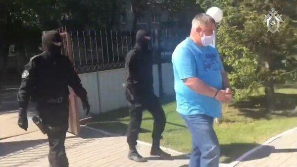 Кадры задержания мэра города Славгорода по обвинению в получении взятки
