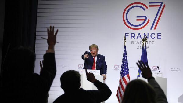 Президент США Дональд Трамп на саммите G7 во Франции
