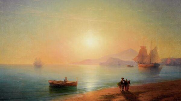 Картина художника Ивана Айвазовского Неаполитанский залив