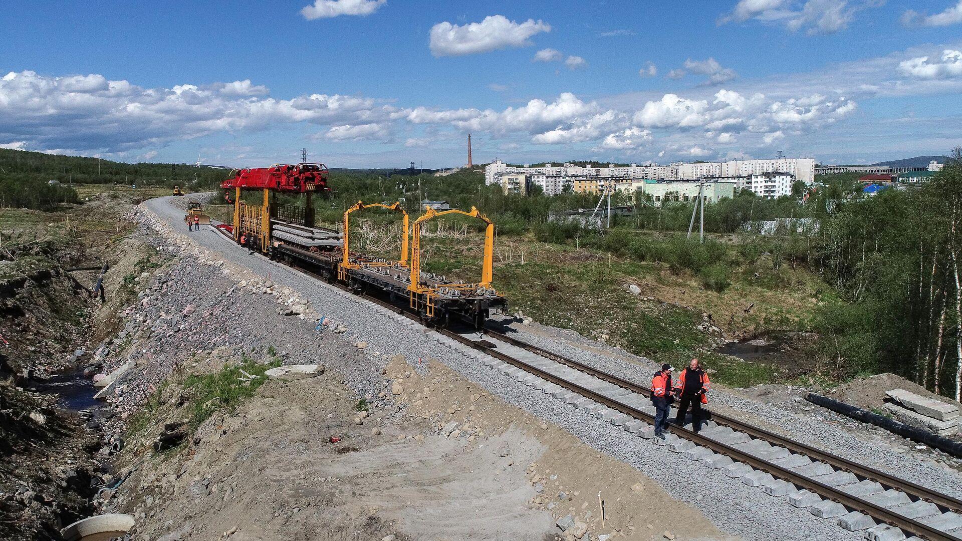Строительство железной дороги - РИА Новости, 1920, 31.03.2021