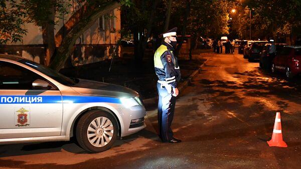 Сотрудник полиции в Москве
