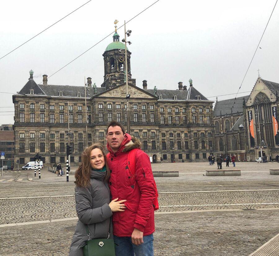 Амстердам. С женой Ольгой