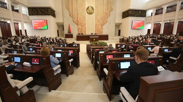 Заседание Палаты представителей парламента Белоруссии