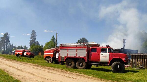 Пожар в частном жилом доме в Вохомском районе Костромской области