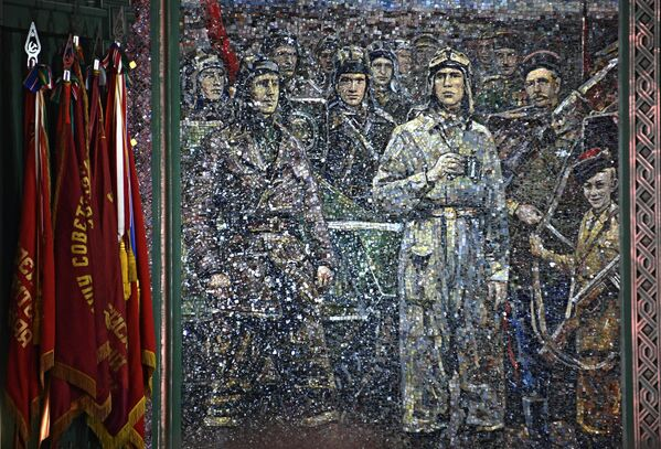 Мозаичное панно главного храма Вооруженных сил РФ в парке Патриот в Московской области