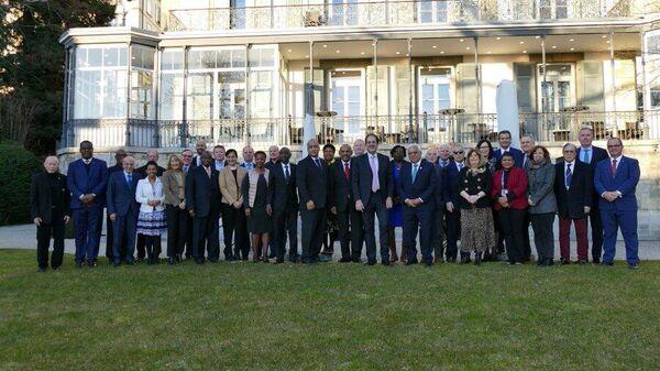 Генеральная ассамблея АНОК на съезде в Лозанне, Швейцария
