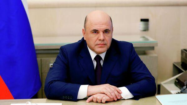Председатель правительства РФ Михаил Мишустин проводит в режиме видеоконференции совещание с вице-премьерами РФ