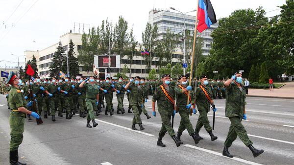 Репетиция парада Победы в Донецке