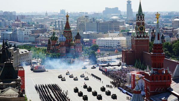 Военный парад в ознаменование 75-летия Победы в Великой Отечественной войне 1941-1945 годов на Красной площади в Москве