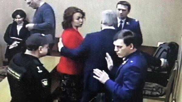 Рона Сопчук во время судебного заседания в суде Советского района Владивостока