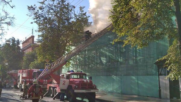 Пожар в Литературном музее Горького в Нижнем Новгороде