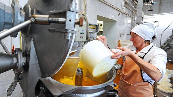 Работа цеха по переработке молока