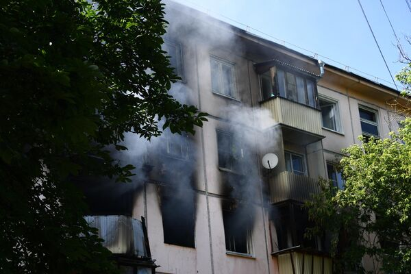 Жилой дом на северо-востоке Москвы, где произошел хлопок газа