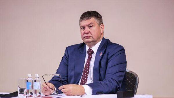 Президент Латвийской федерации хоккея Айгарс Калвитис